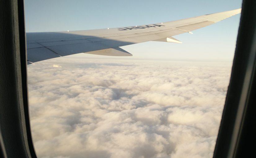 Japan vlucht en aankomst