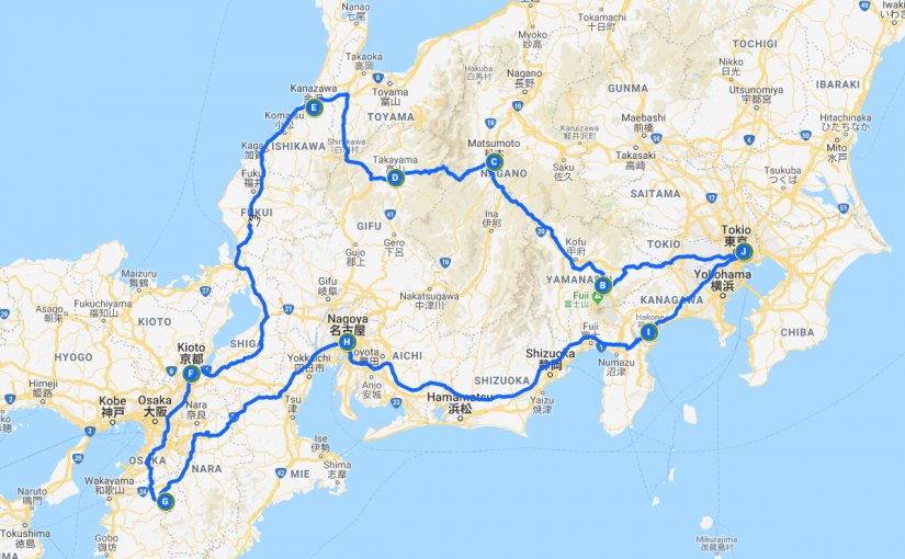 Japan 2019 – Reisschema